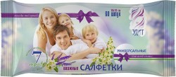 Салфетки влажные AK ЭДИТ универсальные для всей семьи с экстрактами трав, 18х16см, 60шт