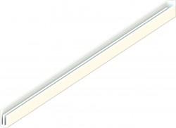 Декоративная заглушка кронштейна 320 лев., белая