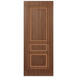 Полотно дверное Троя ДГ 600 шпон орех крупн., пазы в цвет шпона
