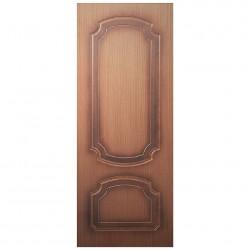 Полотно дверное Румакс ДГ 700 шпон орех крупн., пазы коричневые, глухое