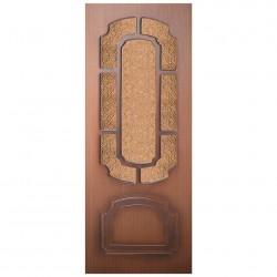 Полотно дверное Румакс ДО 700 шпон орех крупн., дельта бронза