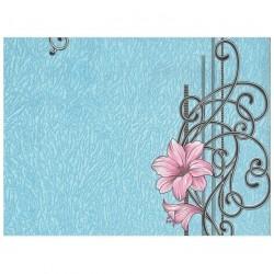 Обои С6БР Гармония-1 симплекс 0,53*10,05м цветы, синий