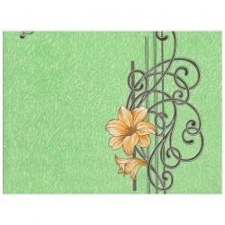 Обои С6БР Гармония-5 симплекс 0,53*10,05м цветы, зеленый
