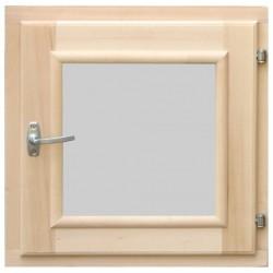 Окно в парную DoorWood 500*500 со стеклопакетом, ручкой, затвором и петлями