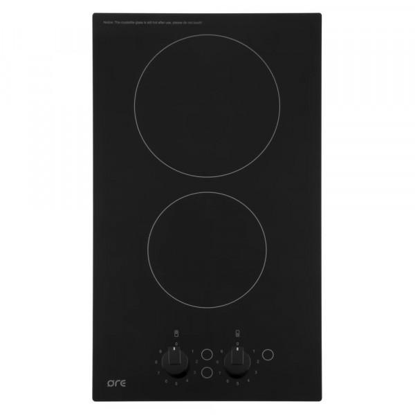 панель варочная черная электрическая ore ca30, 2 конфорки, стеклокерамика