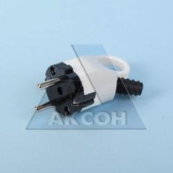 Вилка электрическая с/з 16А с ушком белая Универсал А112