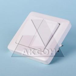 Выключатель 2кл Хит с/у белый VS56-234-B
