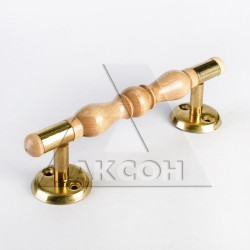 Ручка-скоба РС-160ТФ лак светлая (береза/латунь) 1-06571