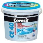 Затирка Ceresit СЕ 40 2-5мм 2,0кг водоотталкивающая, противогрибковая, серая 1046818
