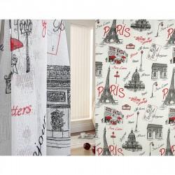 Тюль Париж 103830 3х2,7м льняная ткань разноцветный на крючках