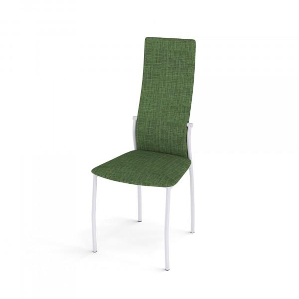 стул галс каркас белый/ткань elain №16 зеленая dikline