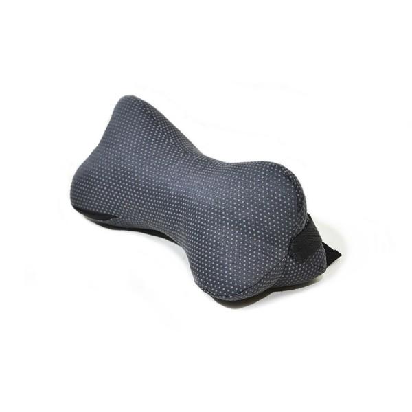 подушка-косточка автомобильная люкс 30*15 smart-textile серый t101