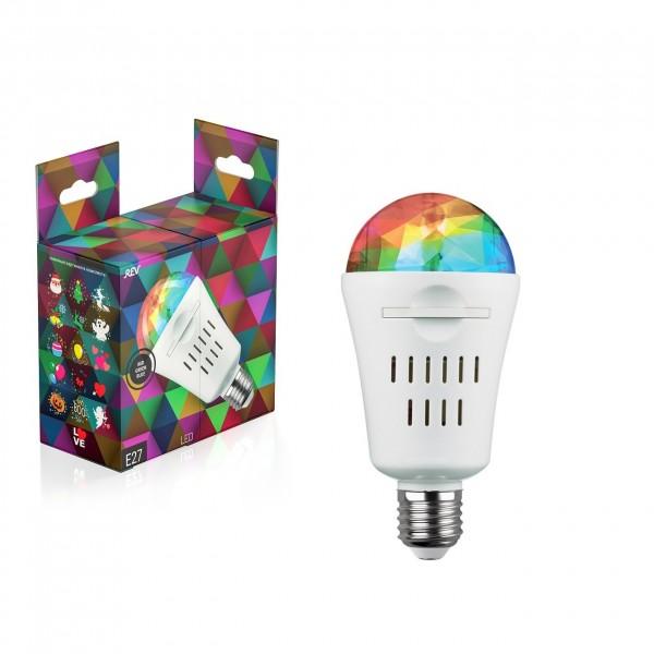 лампа led проекционная disco rgb 4w со сменными паттернами
