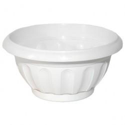 Горшок пластиковый для цветов Ирис круглый mix 3,7л с поддоном
