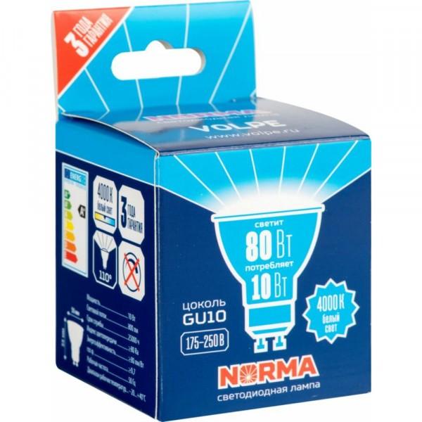 лампа светодиодная volpe norma led-jcdr-10w gu10 груша 4000к лампа светодиодная jazzway 1035431 gu5 3 jcdr 7вт