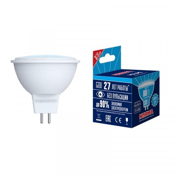 лампа светодиодная volpe norma led-jcdr-10w gu5.3 рефлекторная 4000к лампа светодиодная jazzway 1035431 gu5 3 jcdr 7вт