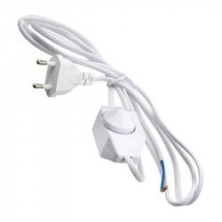 Шнур сетевой с вилкой и выключателем UCX-C30/02A-170 WHITE