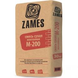 Смесь сухая монтажная М200 30кг /ZAMES/
