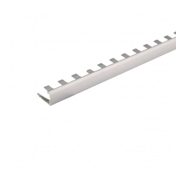 профиль алюминиевый наружный д/криволин.ст. 10мм серебро 01л(не) 2,7м