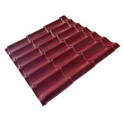Металлочерепица, цвет красный, 1.18 х 1.15 м