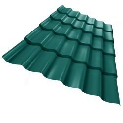 Металлочерепица, цвет зеленый, 1.18 х 2.2 м