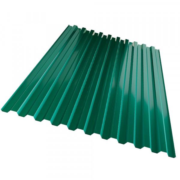 профнастил с21, цвет зеленый, 1.05 х 2 м х 0.35 мм