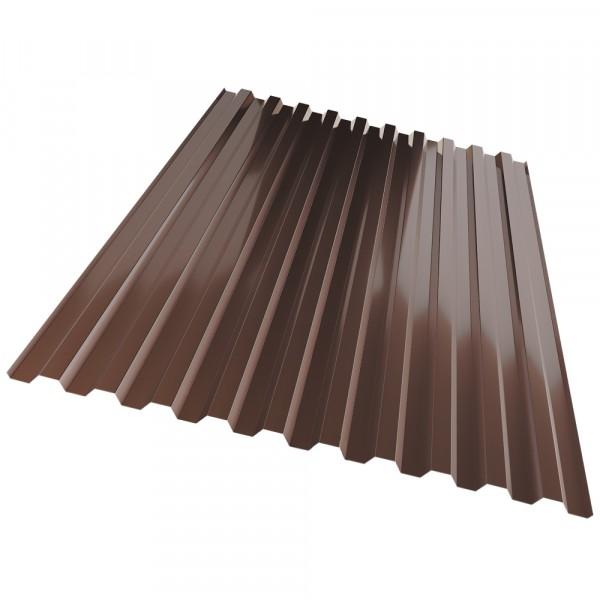 профнастил с21, цвет коричневый, 1.05 х 2 м х 0.35 мм