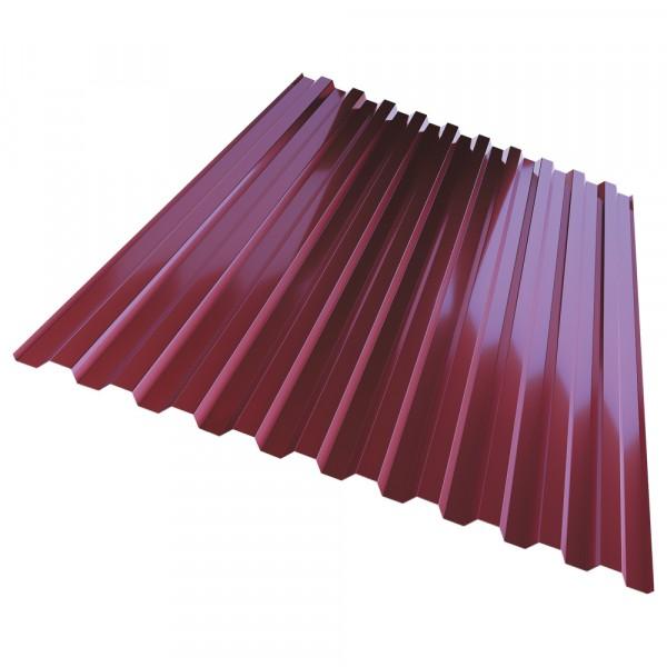 профнастил с21, цвет красный, 1.05 х 2 м х 0.35 мм