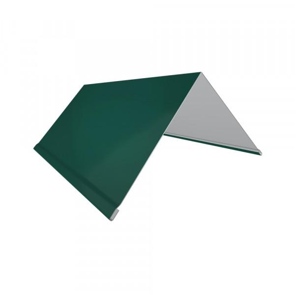 планка торцевая, цвет зеленый, 80 х 100 х 2000 мм планка торцевая grand line pe ral 9006 100х80 мм резка