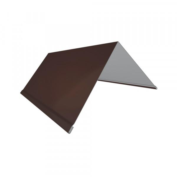 планка торцевая, цвет коричневый, 80 х 100 х 2000 мм планка торцевая grand line pe ral 9006 100х80 мм резка