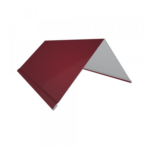 планка торцевая, цвет красный, 80 х 100 х 2000 мм планка торцевая grand line pe ral 9006 100х80 мм резка