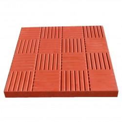 Плитка тротуарная Сетка цвет красный, 3 х 30 х 30 см