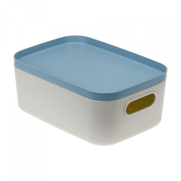 коробка 1,7л инфинити идея с крышкой серо-голубой