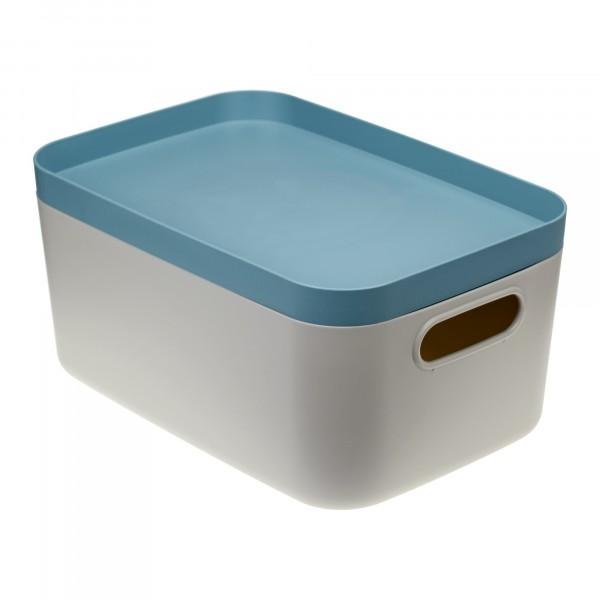 коробка 6,2л инфинити идея с крышкой серо-голубой
