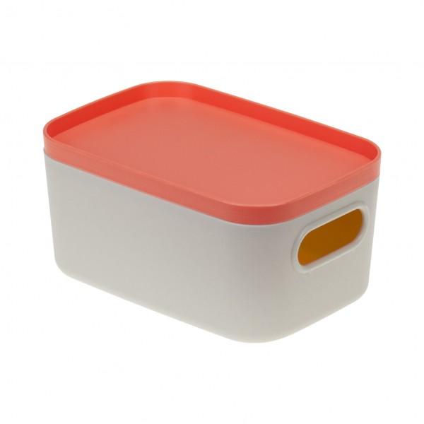 коробка для хранения 0,65л инфинити идея с крышкой коралловый м2344
