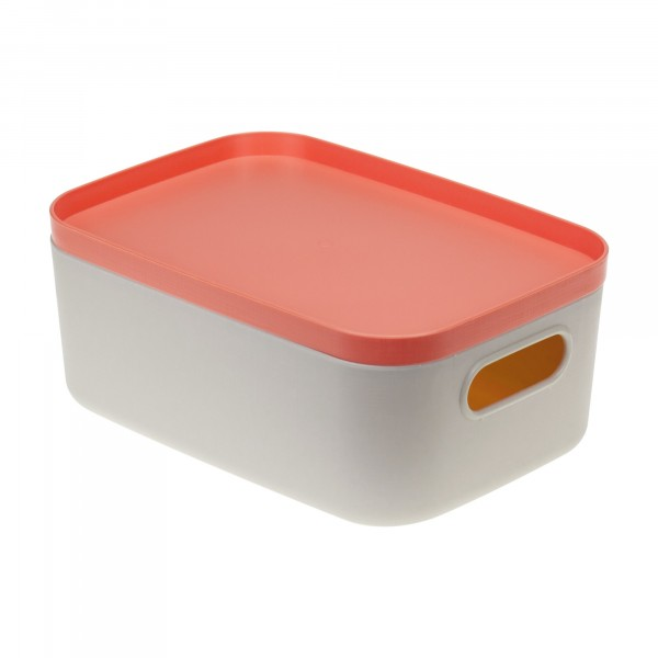 коробка для хранения 1,7л инфинити идея с крышкой коралловый м2345