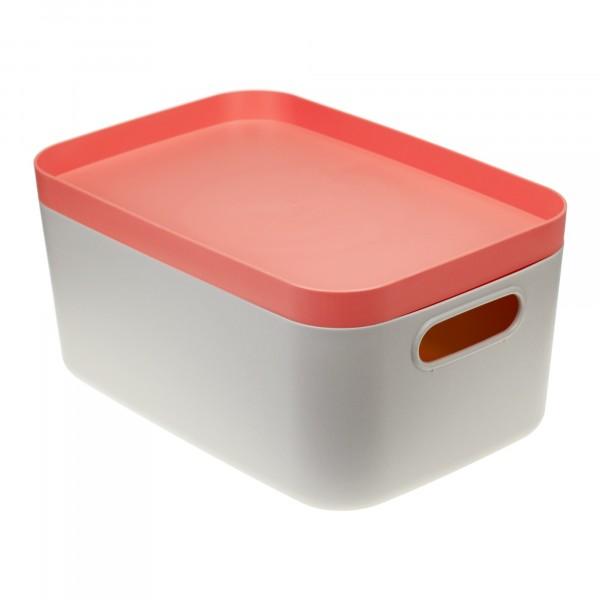 коробка для хранения 6,2л инфинити идея с крышкой коралловый м2346