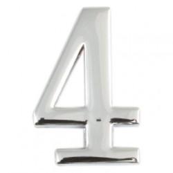 Цифра дверная Apecs 4 хром