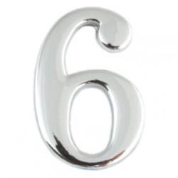 Цифра дверная Apecs 6 хром
