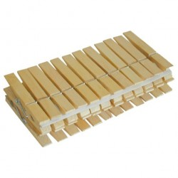Прищепки для белья деревянные /24шт/ R102224