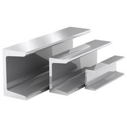 Швеллер алюминиевый 10*10*10*1,5 1,0м серебро