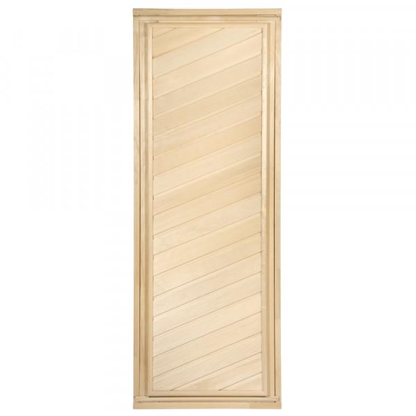 Фото - дверь для сауны 1900*700 глухая, диагональная, с коробкой без петель 03684 дверь для сауны стеклянная doorwood dw01028 восточная арка прозрачная 800х2000 мм