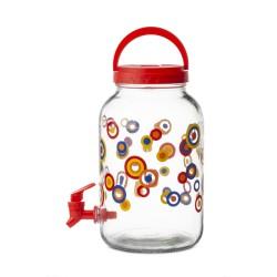 Банка для напитков 3,8л DACHA Attribute стеклянная с пласт.крышкой и краником ABS039