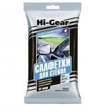 Салфетки для авто влажные 25шт для стекол GLASS CLAENING WIPES Hi-Gear HG5606