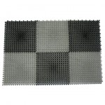 Коврик придверный Травка 42*56см черно-серый 23005