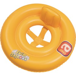 Круг надувной для плавания с сиденьем и спинкой двухкамерный Swim Safe, 69см, 32027 Bestway
