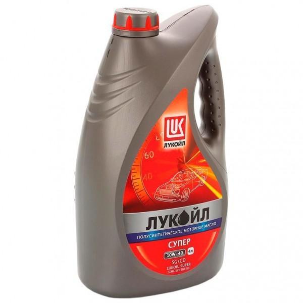 масло моторное 10w40 4л полусинтетическое sg/cd лукойл супер