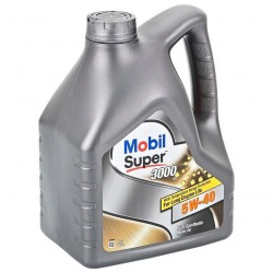 Масло моторное 5W40 4л синтетическое 3000х1 Mobil Super