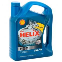 Масло моторное 5W40 4л полусинтетическое Shell HX7