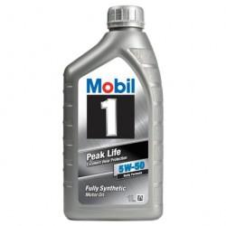 Масло моторное 5W50 1л синтетическое Peak Life Mobil 1